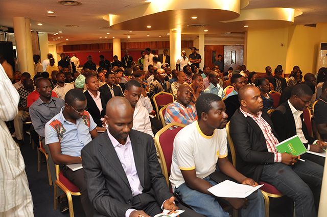 Cross section of the audience at the e-business seminar