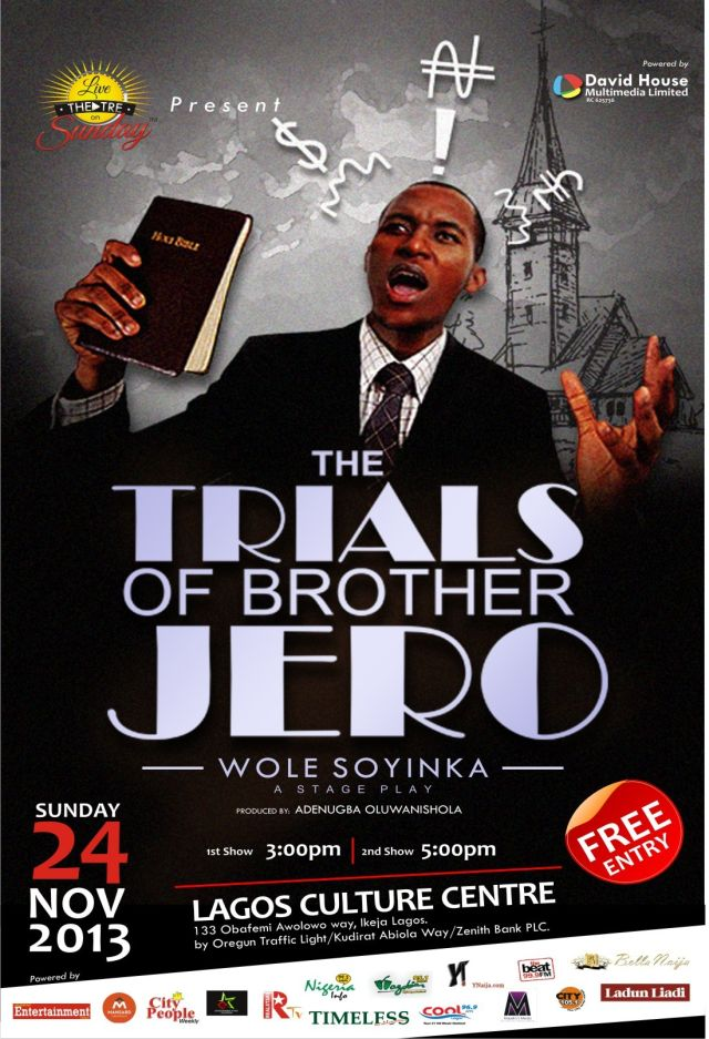 trial of brother jero Jesuit memorial college drama group present: the trials of brother jero on thursday, march 22nd 2018, 7pm prompt click here for more information.