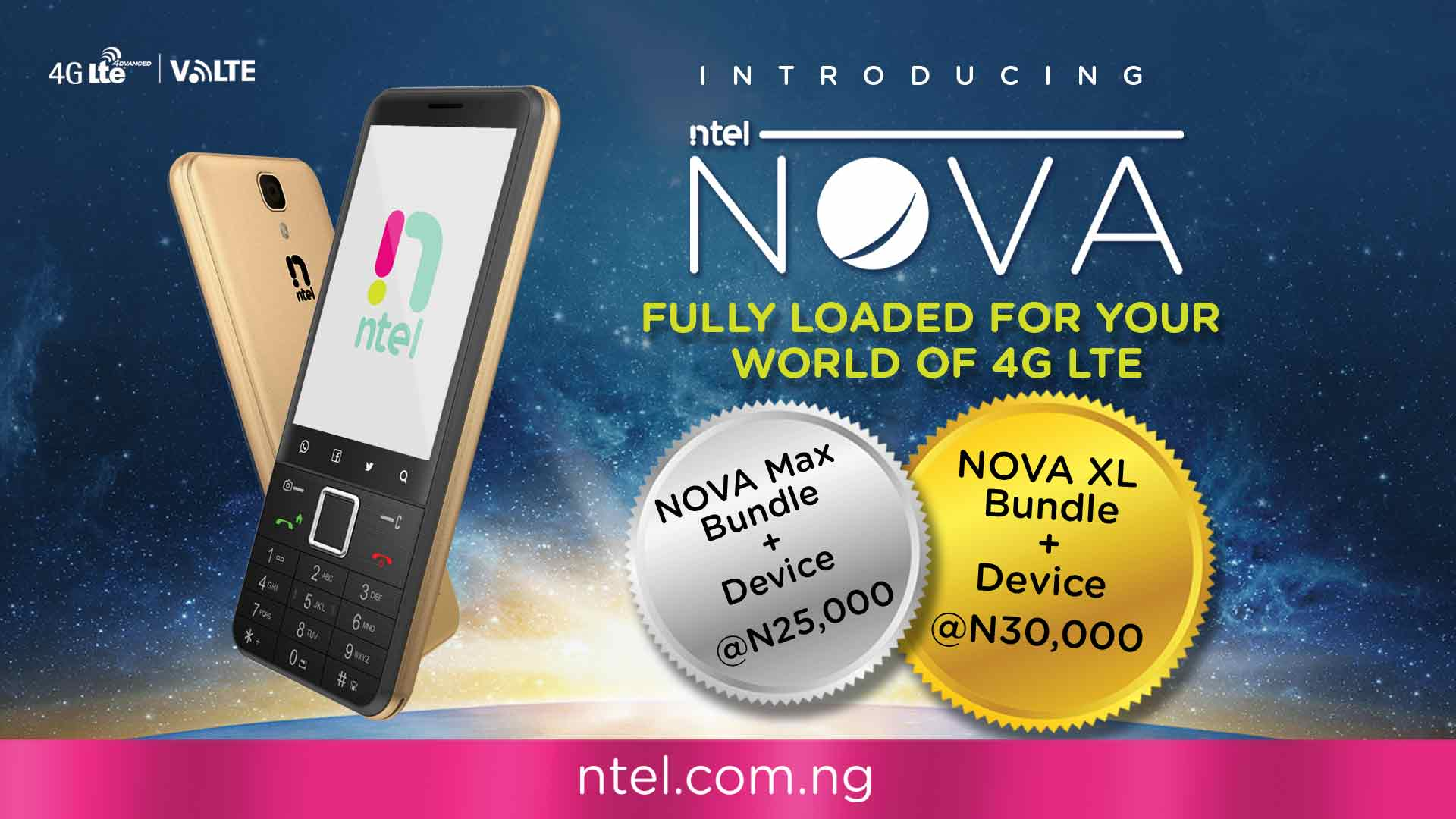 NTEL launches an affordable 4G/LTE Smartphone - www.connectnigeria.com
