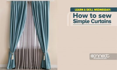 Learn A Skill: How To Sew Simple Curtains