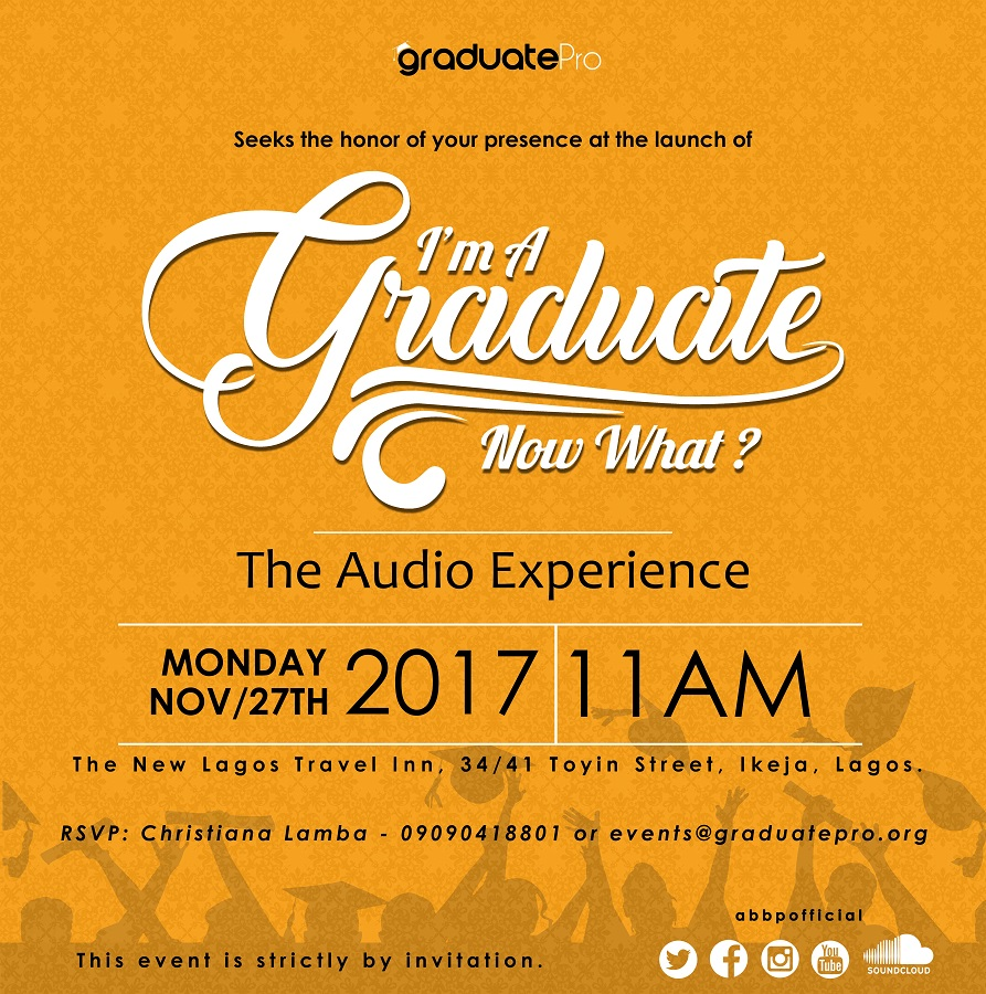 Graduate Pro Holds 'I'm A Graduate Now What' Launch