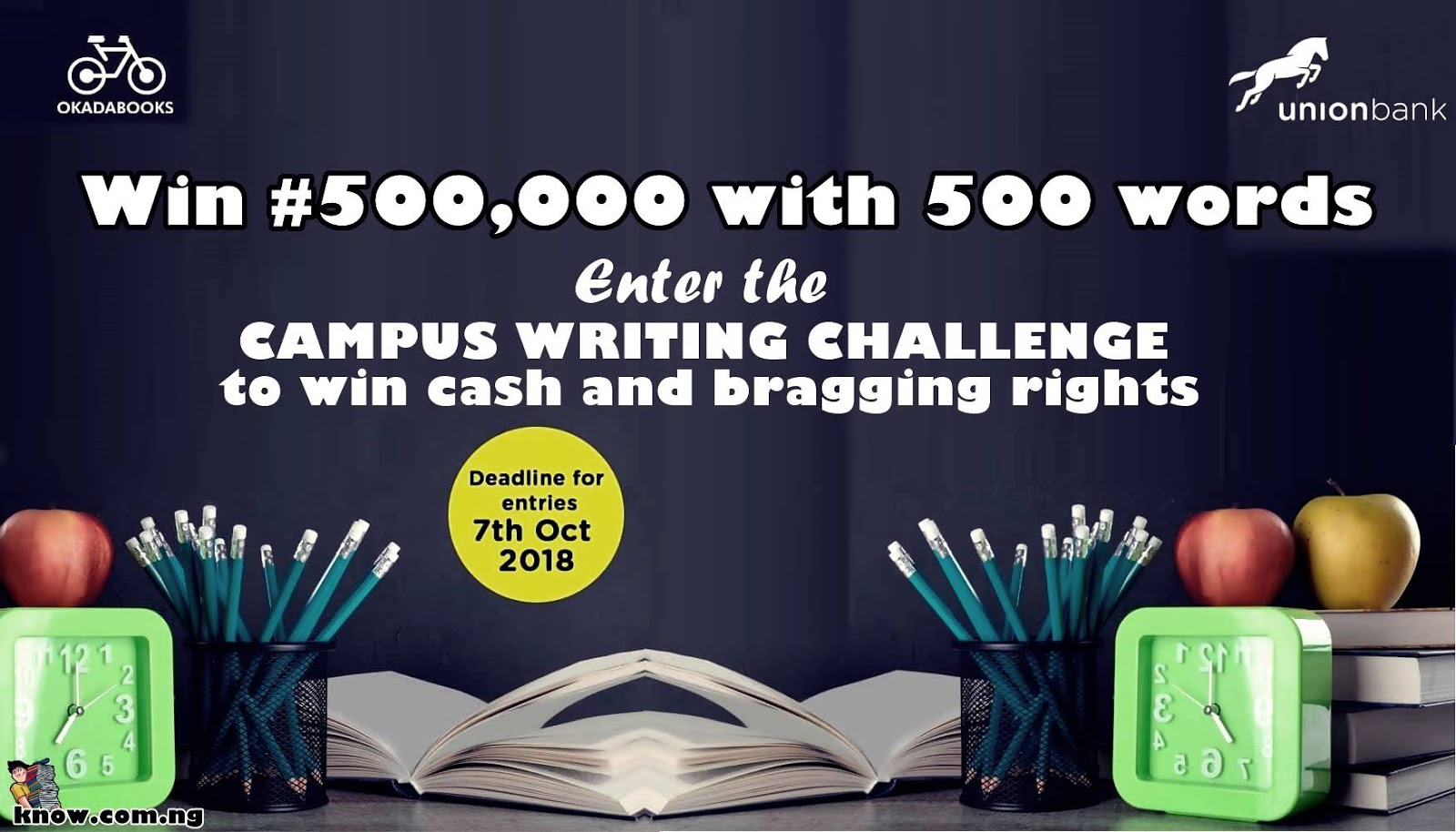 Okadabooks And Union Bank Campus Writing Challenge
