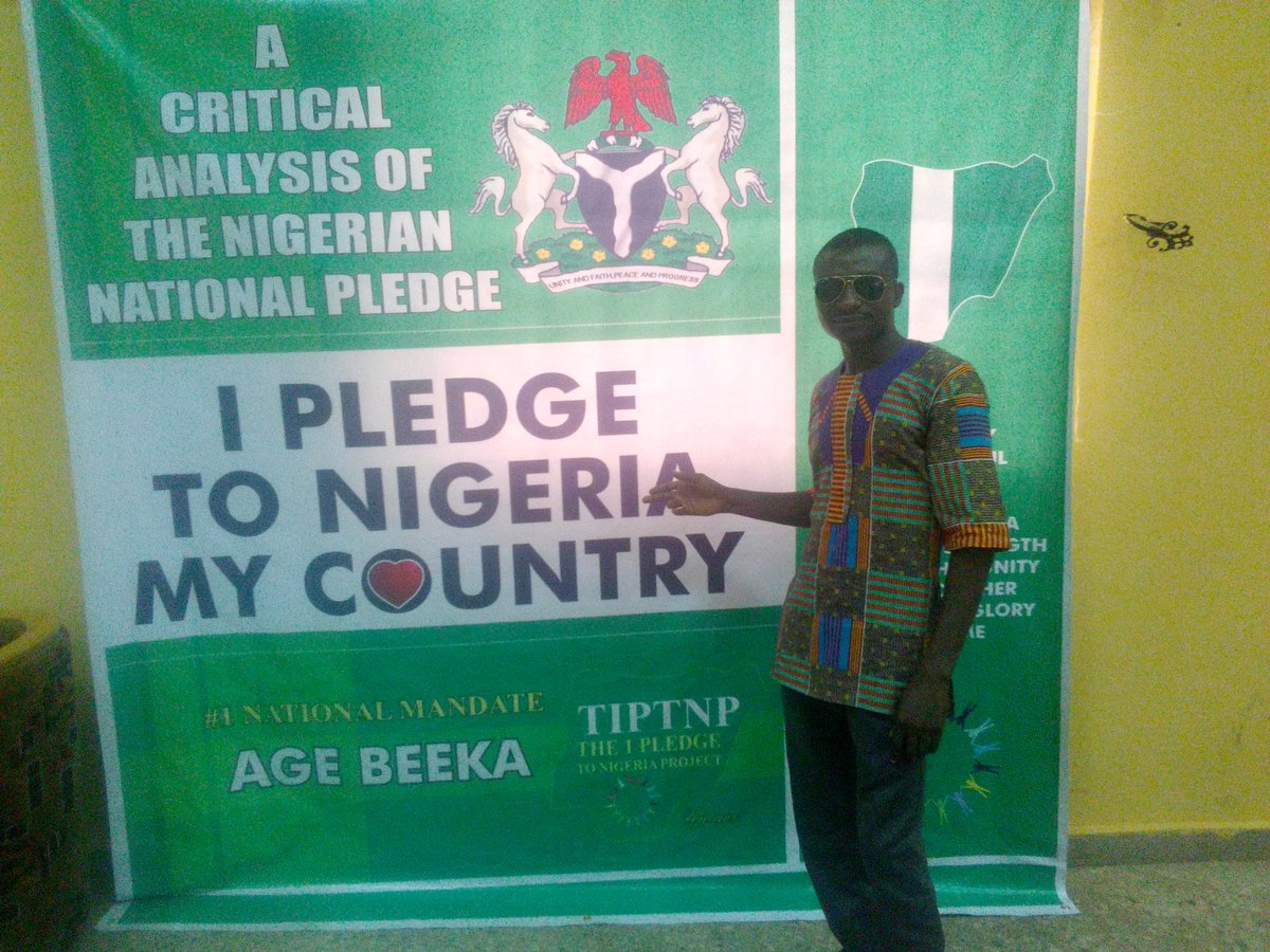 Age Beeka-I pledge To Nigeria My Country